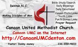 Click on Logo to go to Canaan  UMC  website